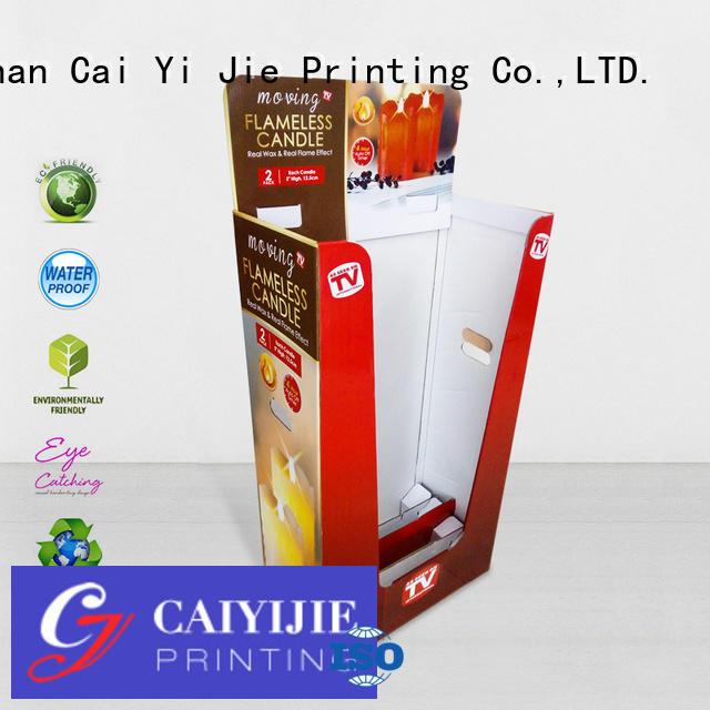 cardboard dump bins for retail commodities CAI YI JIE Brand dumpbin