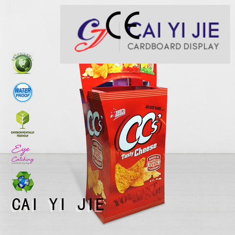 daily merchandising CAI YI JIE cardboard dump bins for retail
