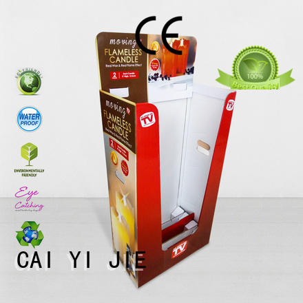CAI YI JIE hot-sale cardboard parts bins printing corrugated display for displays cheese
