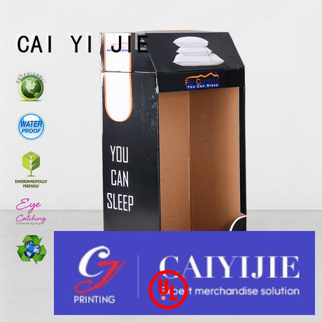 CAI YI JIE large cardboard card display stand chip forbottle