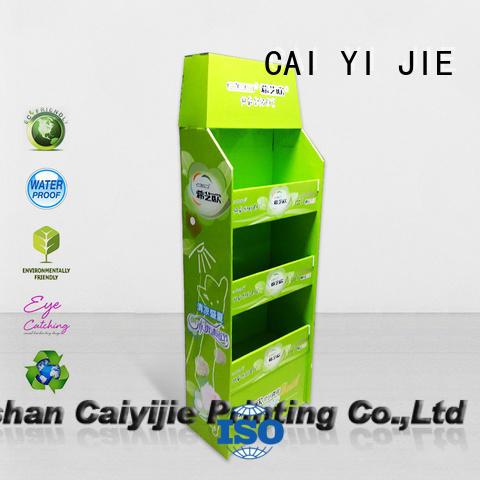 cardboard pallet display promoting advertising carton retail CAI YI JIE