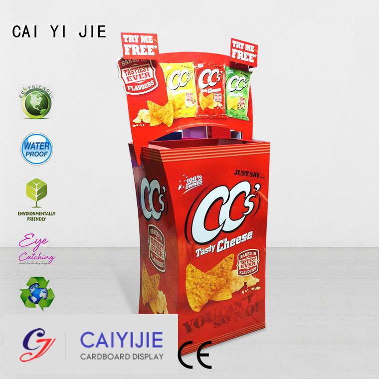 cardboard dump bins for retail daily dumpbin CAI YI JIE