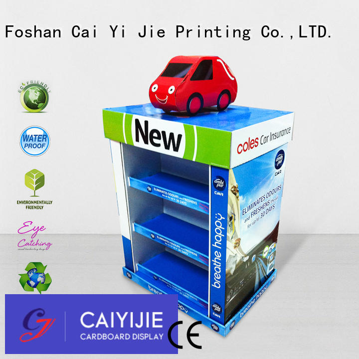 Hot cardboard pallet display stores install mobile CAI YI JIE Brand