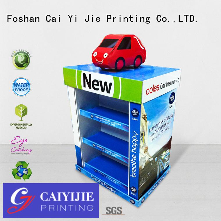 Wholesale sales promoting pallet display CAI YI JIE Brand
