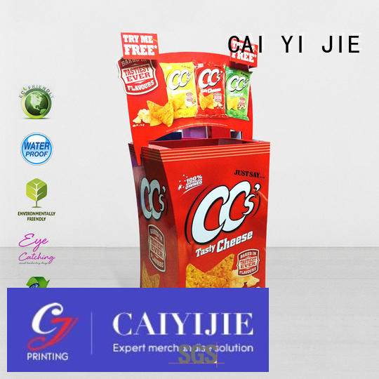 CAI YI JIE Brand cheese display cardboard dump bins for retail floor