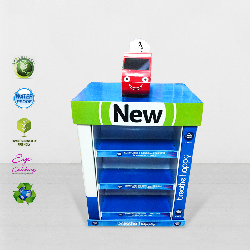 CAI YI JIE Mobile Square Cardboard Display Stands For Advertising Cardboard Pallet Display image39
