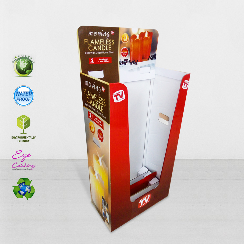CAI YI JIE Color Printing Corrugated Display Bin With Removable Header Cardboard Dumpbins image36