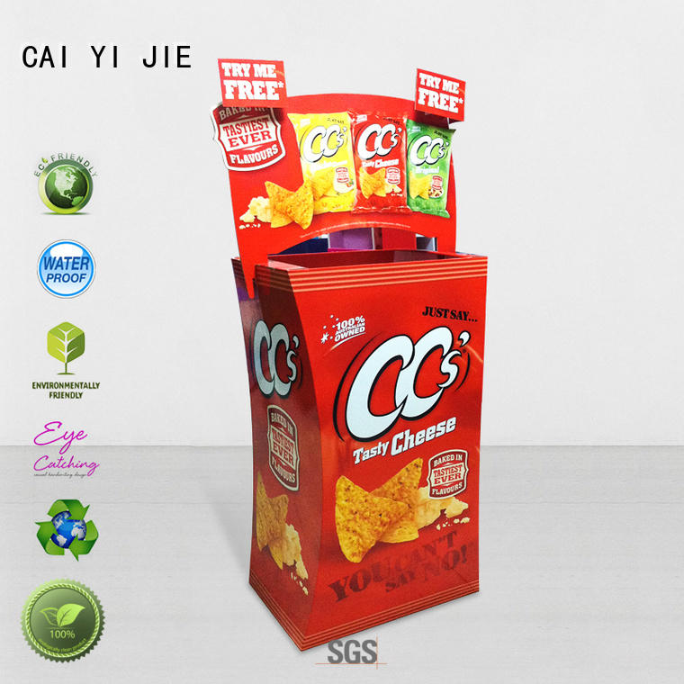 cardboard parts bins color for retail product CAI YI JIE
