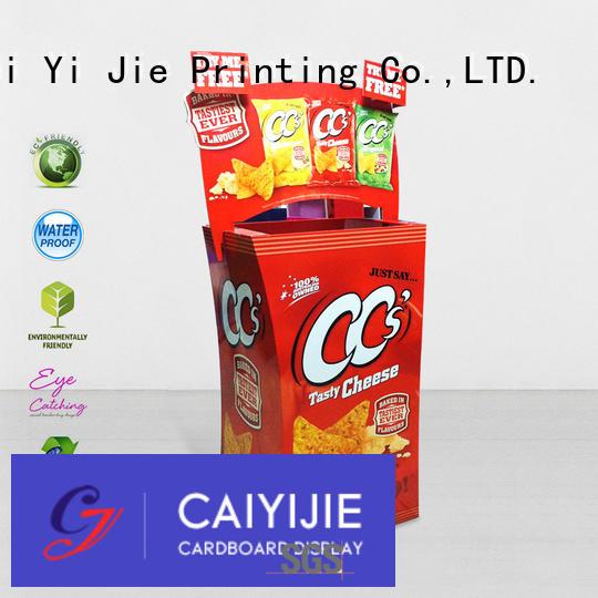 dumpbin floor Quality cardboard dump bins for retail CAI YI JIE Brand removable dumpbin cardboard