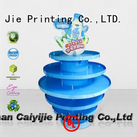 Hot stores pallet display racks promoting CAI YI JIE Brand