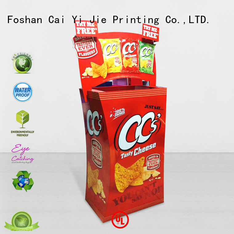cardboard dump bins for retail header dumpbin CAI YI JIE