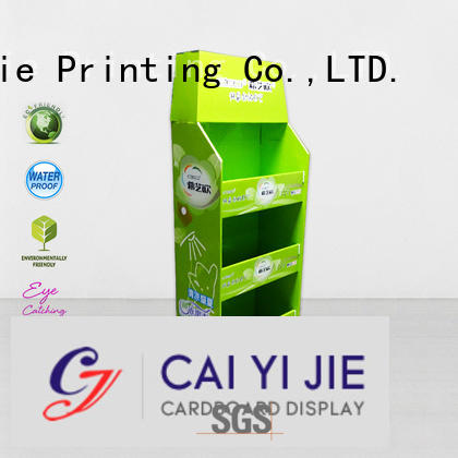 plastic pos advertising cardboard pallet display CAI YI JIE