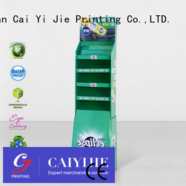 cardboard greeting card display stand printed point retail floor CAI YI JIE