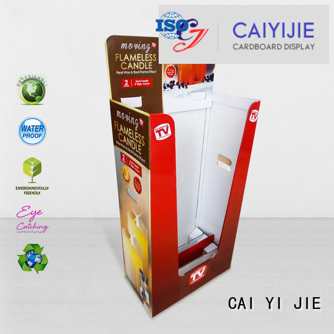 color merchandising corrugated easy CAI YI JIE cardboard dump bins for retail