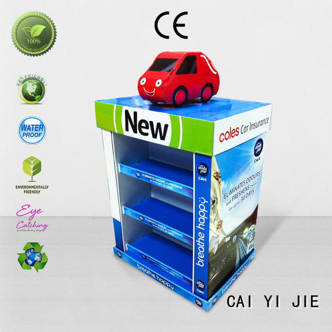 Custom pallet display easy plastic promoting CAI YI JIE