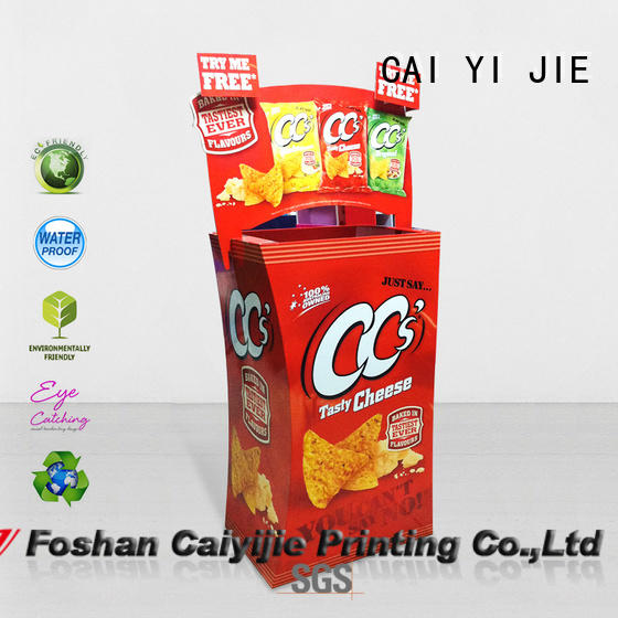 CAI YI JIE cardboard parts bins floor standing for displays cheese