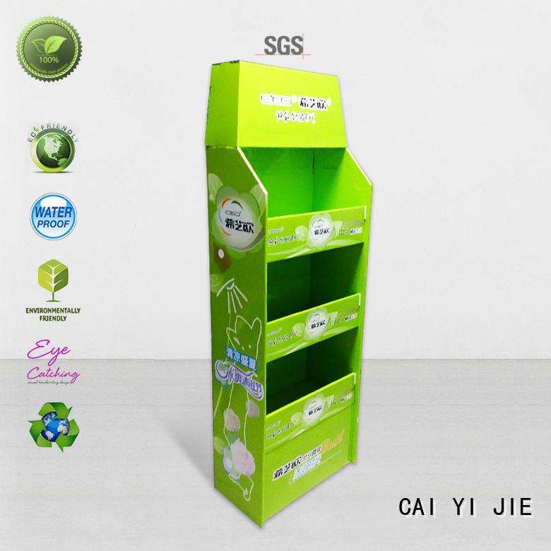 CAI YI JIE cardboard pallet display stands promoting retail