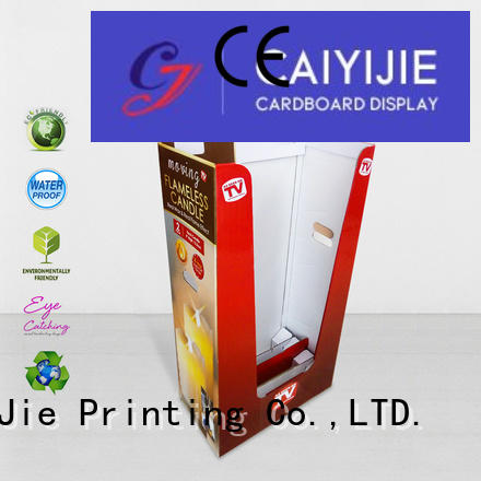 Custom daily merchandising dumpbin CAI YI JIE display