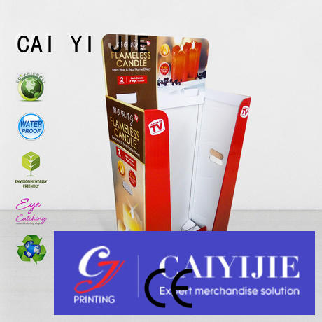 Hot cardboard dump bins for retail easy daily printing CAI YI JIE Brand