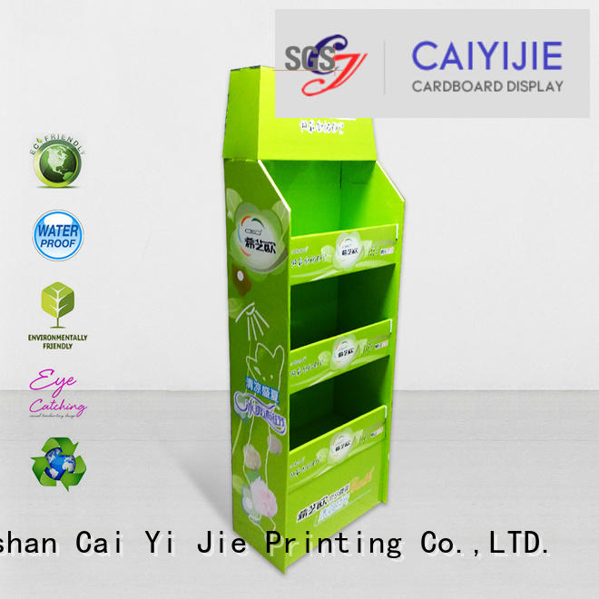 cardboard pallet display product racks OEM pallet display CAI YI JIE