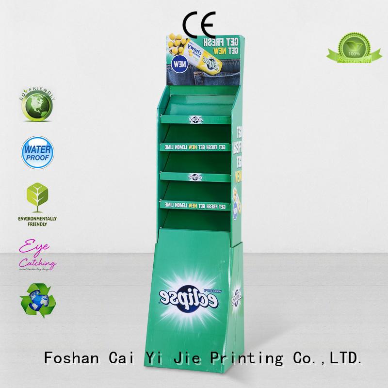 CAI YI JIE retail custom cardboard display stands pop