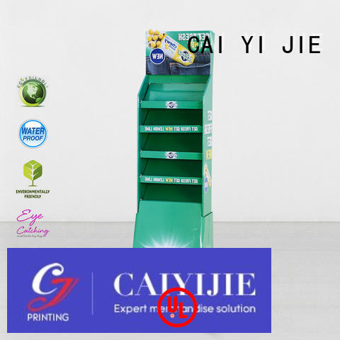 Wholesale retail cardboard greeting card display stand products CAI YI JIE Brand