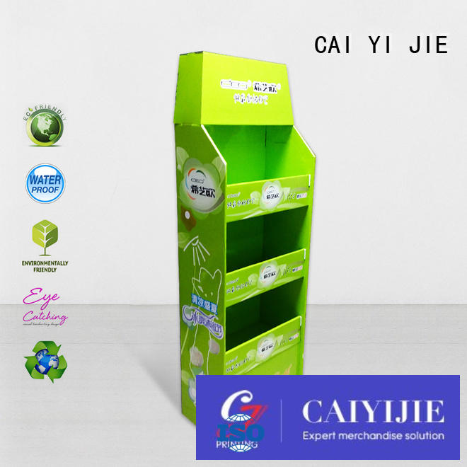 easy corrugated promoting sales cardboard pallet display CAI YI JIE Brand