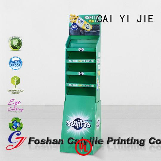CAI YI JIE cardboard retail display operation for kitchen supplies