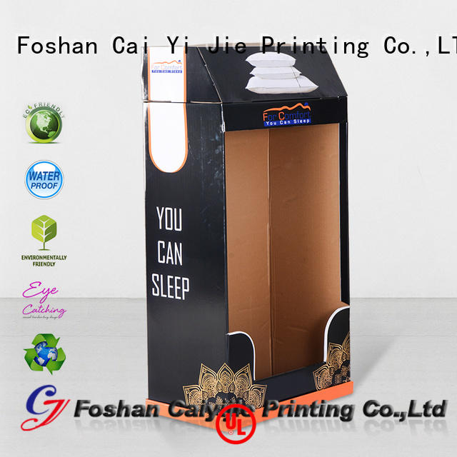 CAI YI JIE stand cardboard pop up displays products for cabinet