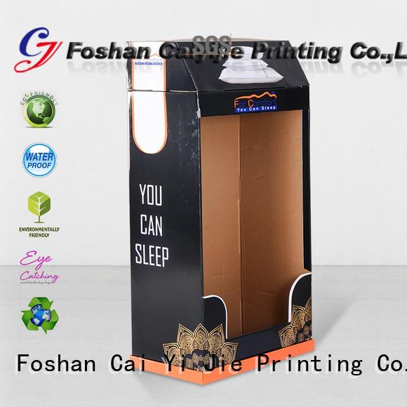 corrugated cardboard floor display stands demo CAI YI JIE