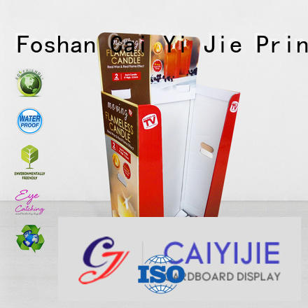 Hot cardboard dump bins for retail printing easy dumpbin CAI YI JIE Brand