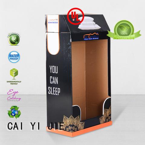 cardboard greeting card display stand chain promotional cardboard stand CAI YI JIE Brand