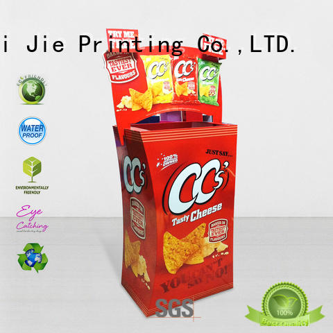 CAI YI JIE cheap dump bins printing corrugated display for displays cheese