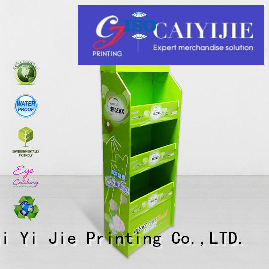 Quality CAI YI JIE Brand cardboard pallet display advertising plastic