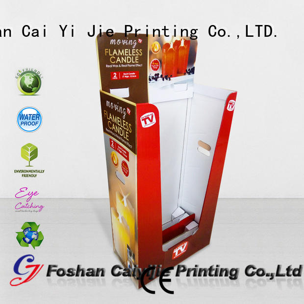 Color Printing Corrugated Display Bin With Removable Header