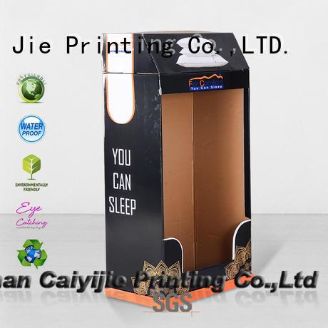 cardboard greeting card display stand printing CAI YI JIE Brand cardboard stand