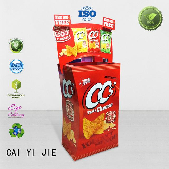 CAI YI JIE best quality cardboard bins floor standing