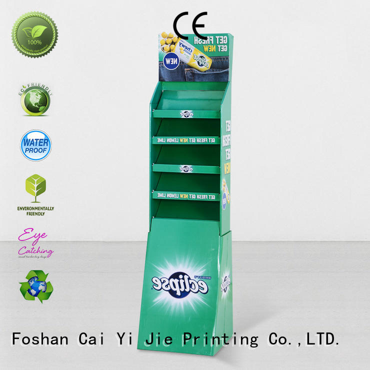 CAI YI JIE Brand clip promotional custom cardboard greeting card display stand