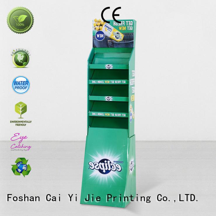 CAI YI JIE Brand clip promotional custom cardboard greeting card display stand