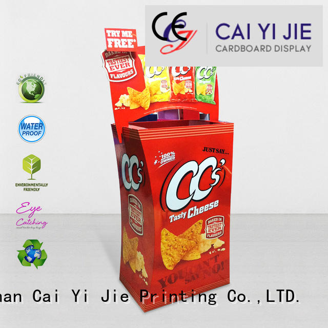 easy color cheese CAI YI JIE cardboard dump bins for retail