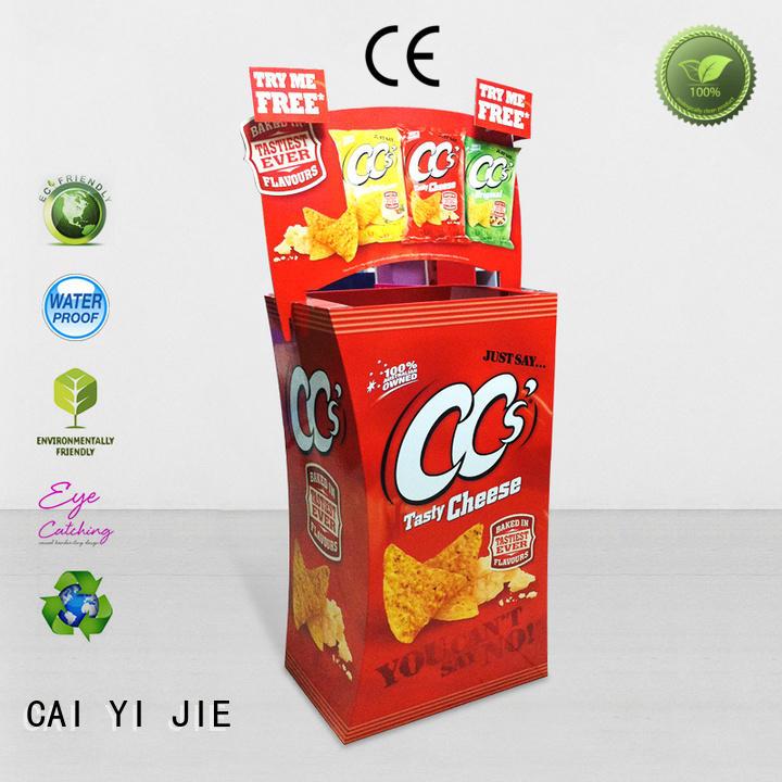 CAI YI JIE color dump bin manufacturers printing corrugated display