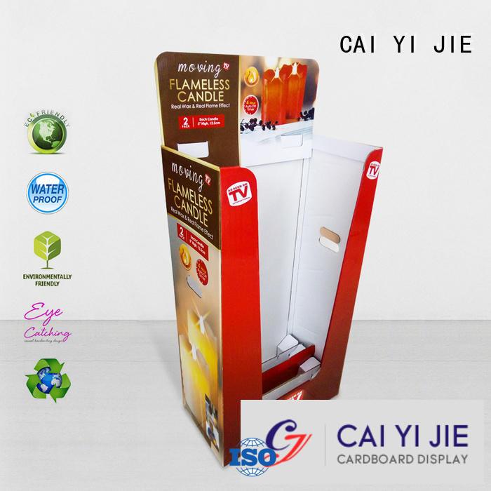 cardboard dump bins for retail color CAI YI JIE Brand dumpbin