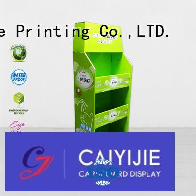 stores cardboard pallet display retail display CAI YI JIE Brand