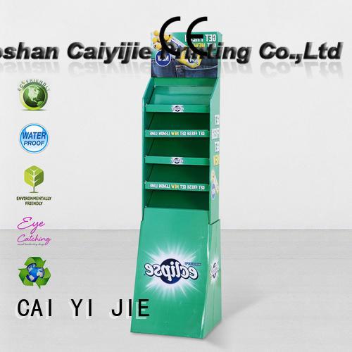 multifunctional cardboard floor lamp for cosmetics