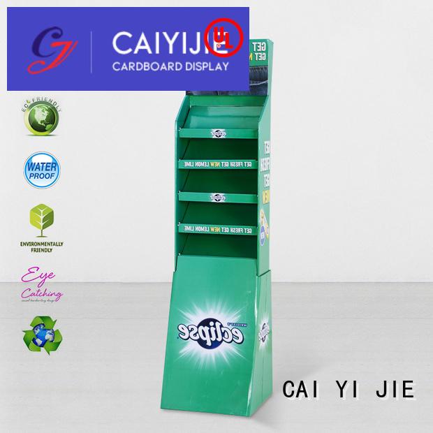 cardboard greeting card display stand floor retai stand fashion CAI YI JIE