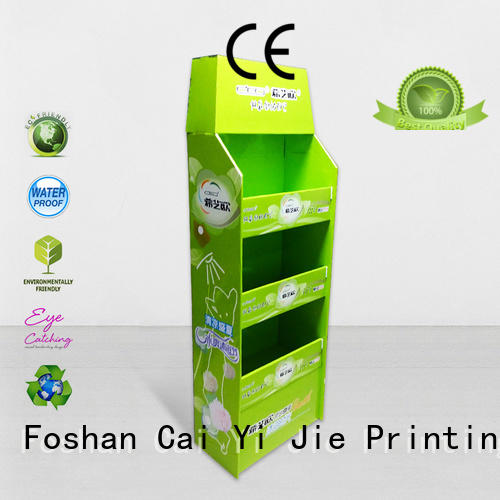 cardboard merchandising displays for chain store CAI YI JIE