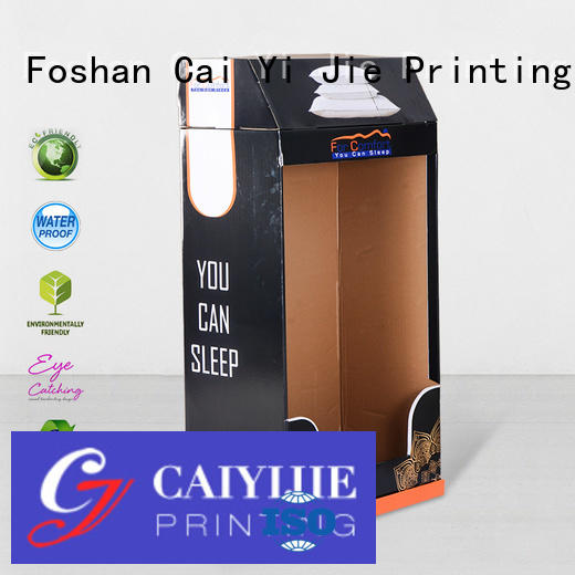 stiand clip corrugated tube CAI YI JIE cardboard greeting card display stand