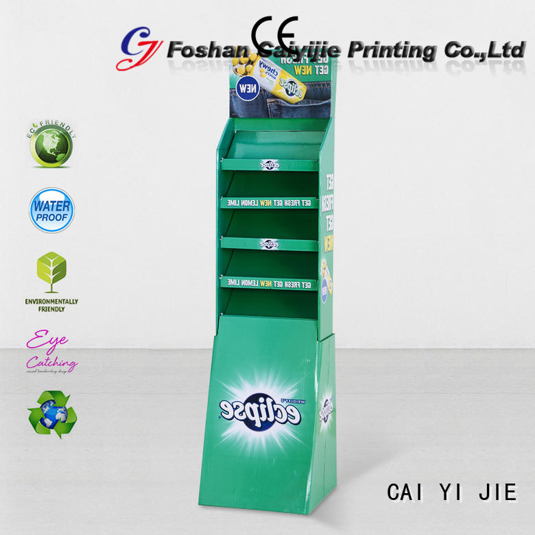 retail color sale CAI YI JIE cardboard stand