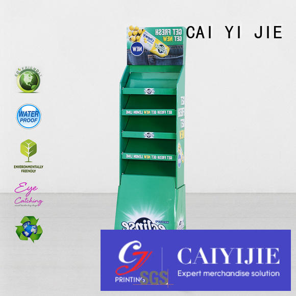 CAI YI JIE cardboard greeting card display stand stainless stand displays