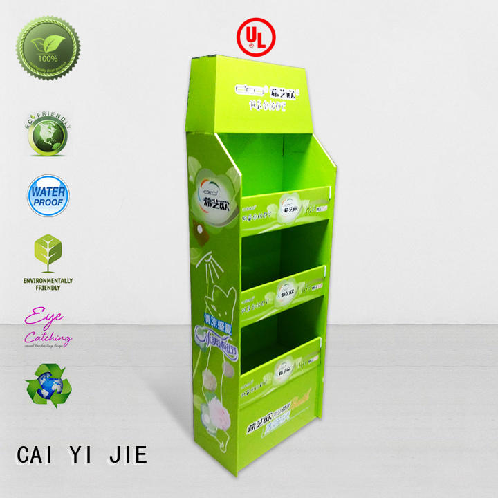 easy installation cardboard display rack retail for stores